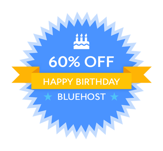 Bluehost birthday Sale